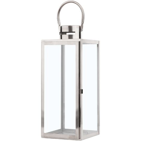 Decorative Lantern Silver CYPRUS