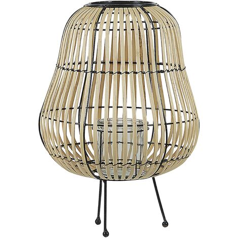 Decorative Lantern Willow Wood 44 cm Light BERKNER