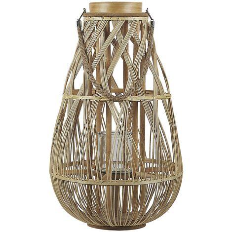Decorative Lantern Willow Wood 56 cm Light TONGA
