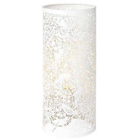 Decorative Secret Garden Table Lamp Matt Ivory Paint - Living Room Decor