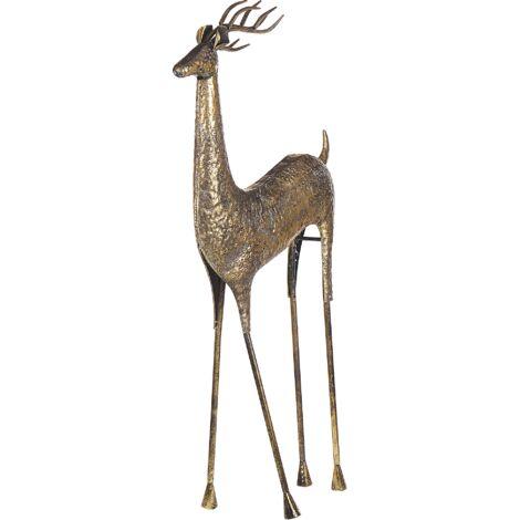 Decorative Statue Reindeer Gold PELLO