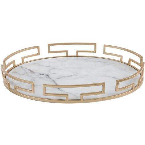 Decorative Tray Marble Effect with Gold CARO