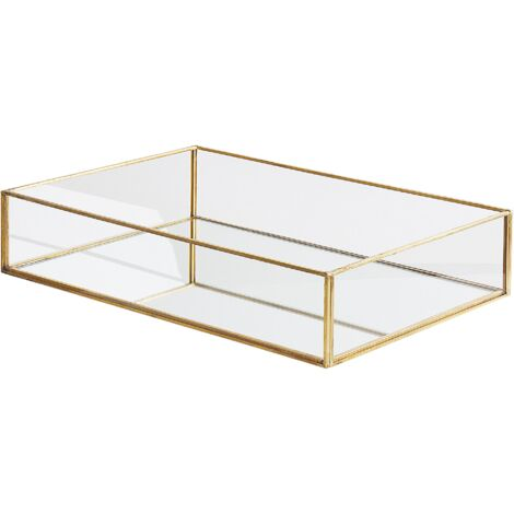 Decorative Tray Mirror Effect Gold GRENOBLE