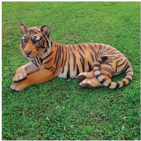 Decorazione da giardino animali tigre del bengala centimetri 100 arredo giardino laghetto magic