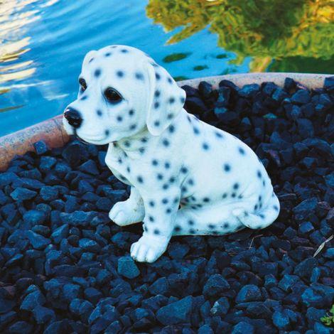 Decorazione in resina cane dalmata h 19 cm giardino e laghetto magic