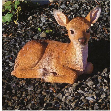 Decorazioni animali giardino & laghetto cervo bamby in resina h 17 cm