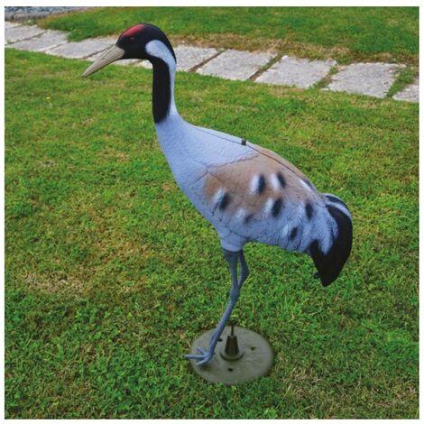 Decorazioni animali giardino & laghetto gru' in resina h 90 cm