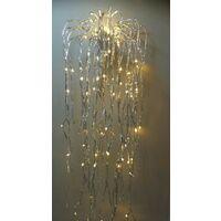 Decorazioni di natale cascata di luci 600 led h.250 bianco caldo - Salone Negozio On Line