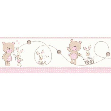 Decorline Bear And Boo Pink Wallpaper Border