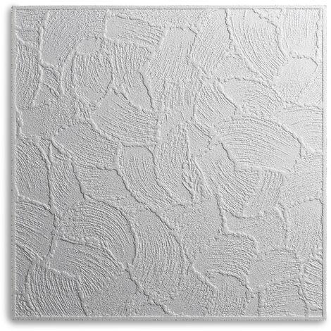 Decosa Deckenplatte Valencia, weiß, 50 x 50 cm verschiedende Abnahmemengen