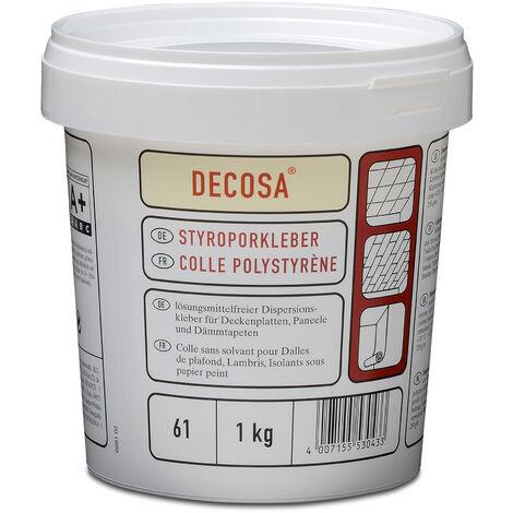 Decosa Styroporkleber, weiß, Eimer 1 kg verschiedende Abnahmemengen
