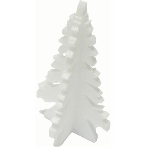 Decosa Weihnachtsbaum, weiss, Ø 10,5 cm, 2 Beutel mit je 6 Stueck