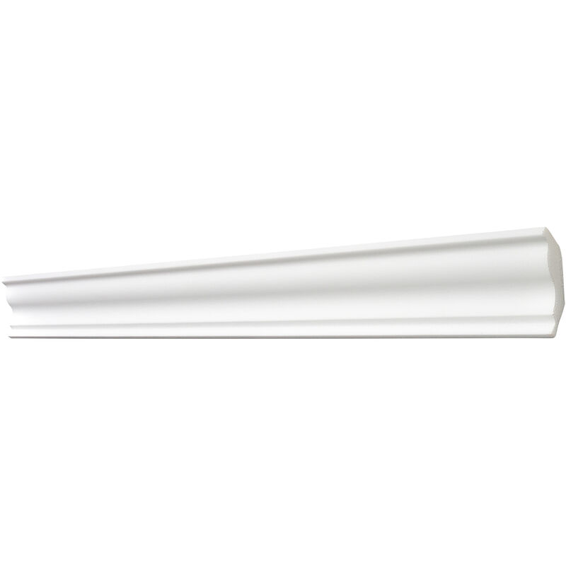 1 Leiste /à 2 m L/änge DECOSA Zierprofil S50 wei/ß Sophie 40 x 45 mm