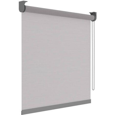 Decosol Estor enrollable Deluxe traslúcido blanco rayas 60x190 cm - Blanco