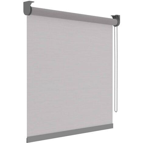 Decosol Estor enrollable Deluxe traslúcido blanco rayas 90x190 cm - Blanco