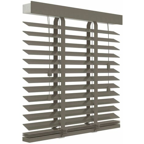 Decosol Horizontal Blinds Wood 50 mm 100x130 cm Taupe