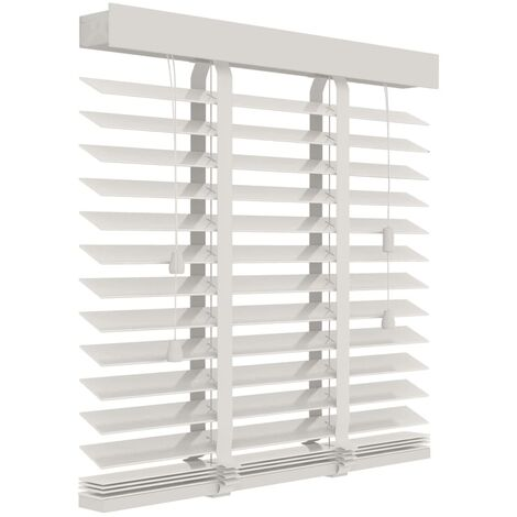 Decosol Horizontal Blinds Wood 50 mm 100x130 cm White