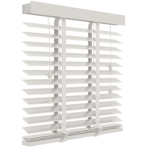 Decosol Horizontal Blinds Wood 50 mm 100x180 cm White