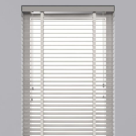 Decosol Horizontal Blinds Wood 50 mm 120x180 cm White