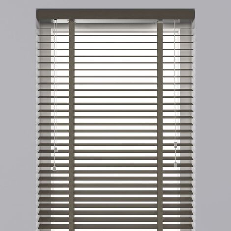 Decosol Horizontal Blinds Wood 50 mm 140x180 cm Taupe - Brown