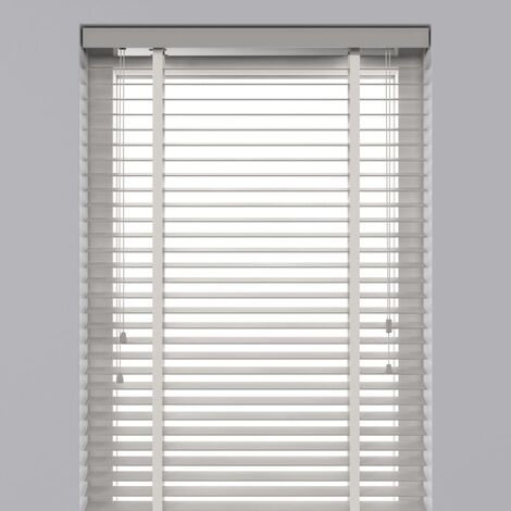 Decosol Horizontal Blinds Wood 50 mm 140x180 cm White