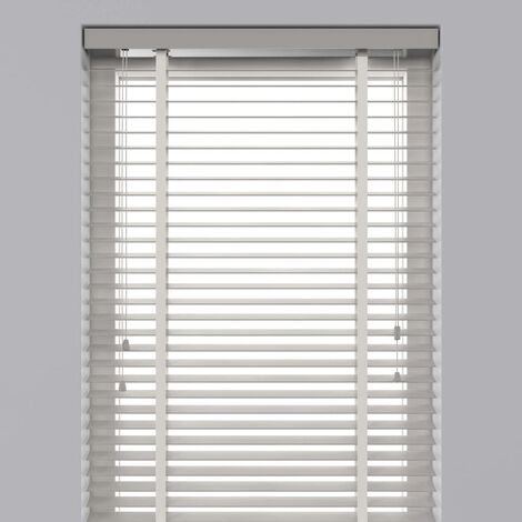 Decosol Horizontal Blinds Wood 50 mm 140x180 cm White - White