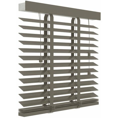 Decosol Horizontal Blinds Wood 50 mm 160x180 cm Taupe