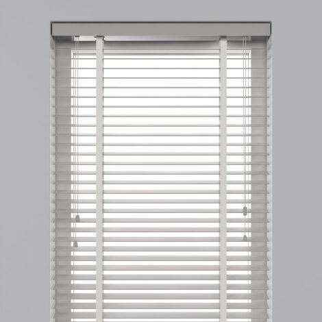 Decosol Horizontal Blinds Wood 50 mm 60x130 cm White - White