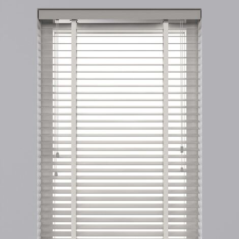 Decosol Horizontal Blinds Wood 50 mm 60x180 cm White