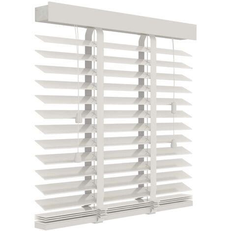 Decosol Horizontal Blinds Wood 50 mm 80x130 cm White