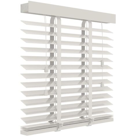 Decosol Horizontal Blinds Wood 50mm 160x180 cm White