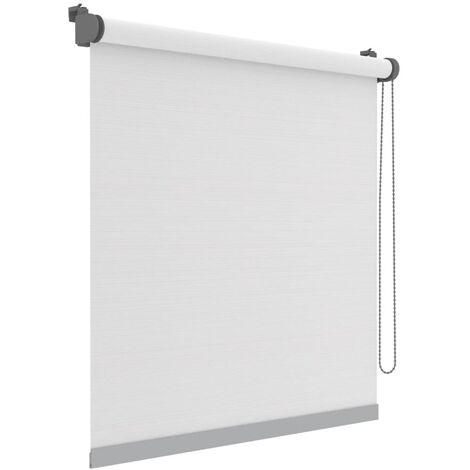Decosol Mini estor enrollable Deluxe translúcido blanco rayas 52x160cm - Bianco