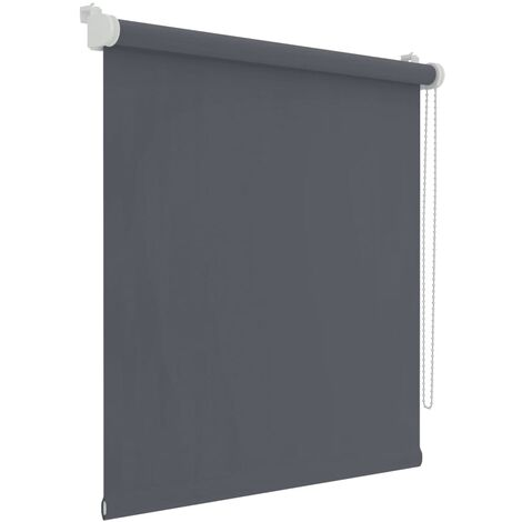 Decosol Mini estor enrollable opaco gris antracita 37x160 cm - Grigio