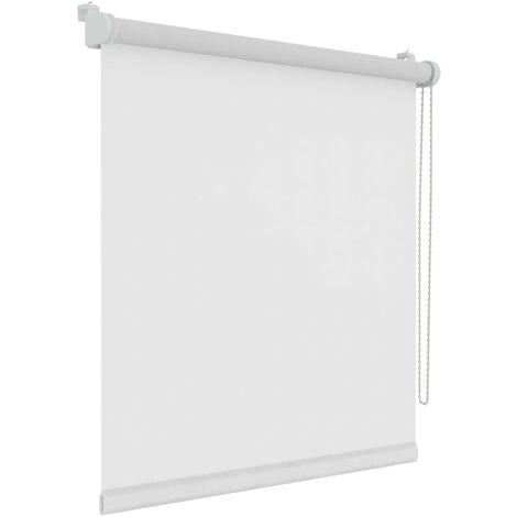 Decosol Mini estor enrollable translúcido Uni blanco 107x160 cm - Blanco