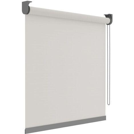 Decosol Persiana enrollable Deluxe translúcida blanco patrón 120x190cm - Blanco