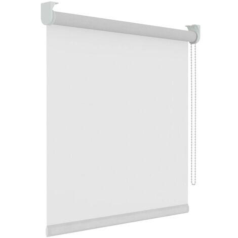 Decosol Persiana enrollable translúcida blanca 60x190 cm - Blanco