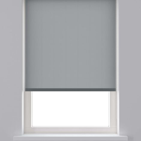 Decosol Persiana enrollable translúcida gris antracita 120x190 cm - Gris