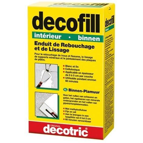 DECOTRIC - Enduit poudre Decofill intérieur 1 kg