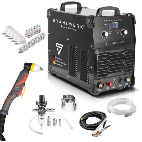 Découpeur plasma CUT 100 P IGBT - Equipement complet, excellente qualité de coupe, technologie IGBT, métal, cuivre, acier inoxydable, laiton, aluminium