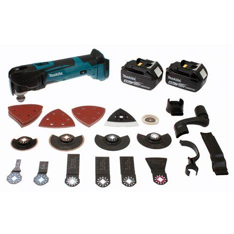 Découpeur-ponceur multifonctions 18 V Li-ion 4 Ah Makita DTM51RMJX3 + accessoires