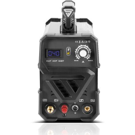 Découpeuse plasma STAHLWERK CUT 40 Pilot IGBT avec allumage pilote et 40 ampères, capacité de coupe jusqu'à 10 mm, convient aux tôles peintes et aux films de rouille, garantie 7 ans