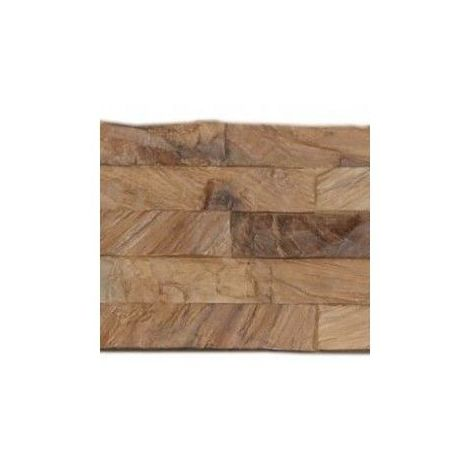 Decowall Teck Diamond Wood Natural - Parement Mural - INDO