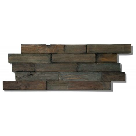 Decowall Teck FSC Charred - Parement Mural - INDO