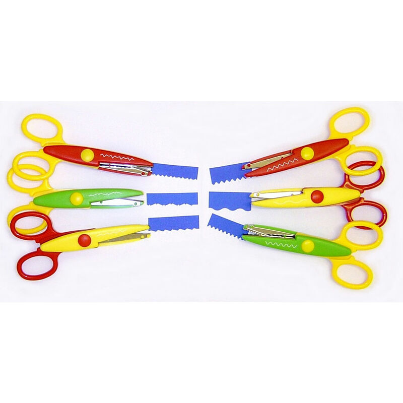 Image of Decree Pack of 6 Crazy Cut Scissors