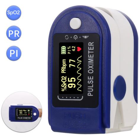 Dedo oximetro de pulso SpO2 Mini monitor de saturacion de oxigeno del monitor del pulso indice de perfusion Dispositivo de medicion Medidor 5S Lectura Rapida con correa