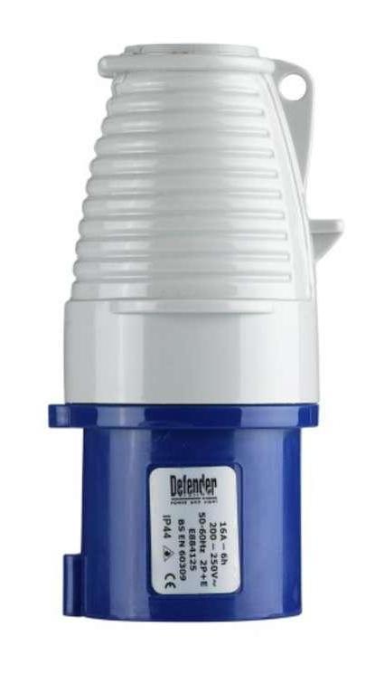 Image of Defender 16amp Plug - Blue - Display Packed 240V