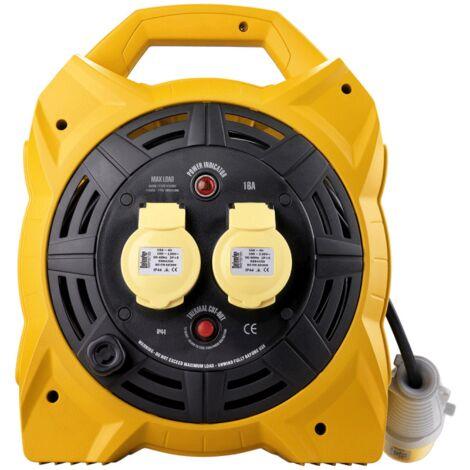 Defender 25mtr Cable Extension Reel 110v/16a E86450/55
