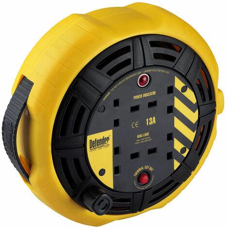 Defender Cassette 10mtr Cable Extension Reel 230v/13a E86535