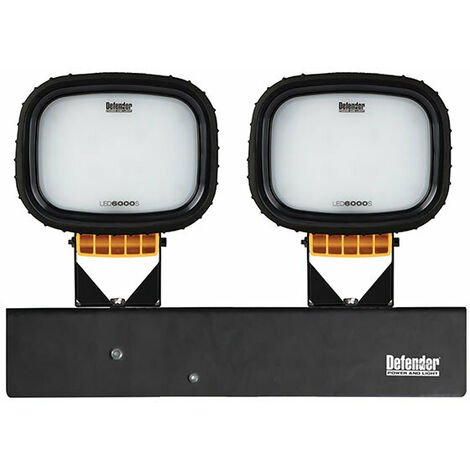 Defender LED6000S Twin Head Floodlight - Wired Heads Only