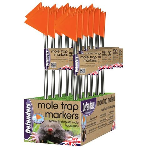 Defenders STV317 Hi-Vis Mole Trap Markers (Pack of 5)